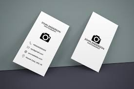 014 Free Photography Vertical Business Card Template Ideas