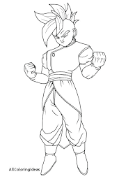 Dragonball Z Coloring Pages Goku Super Saiyan 2 Coloring Pages