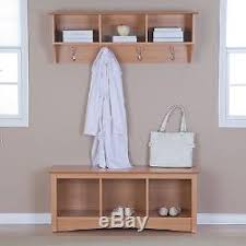 Cubby Bench And Coat Rack Set Maple Triple Cubby Storage Bench Entryway Coat Rack Set Hooks 11