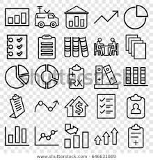 Report Icons Set Set 25 Report Stock Vector Royalty Free 646631869