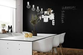 room with white furniture. Black Walls In Dining Room With White Furniture And Chalk Board Paint