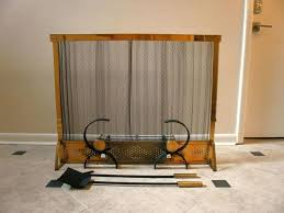 mid century fireplace screens modern fireplace screen andirons and tools set mid century brass fireplace screen
