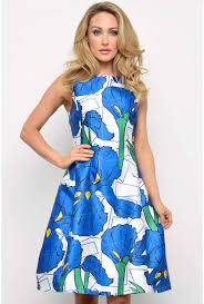 Maddie Bold Print Dress In Cream