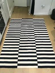 ikea striped outdoor rug flat woven black off white cm ikea blue striped rug