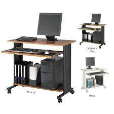 safco muv 35 w fixed height computer workstation desk with keyboard shelf