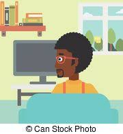 watching tv clipart. man watching tv. - an african-american sitting on the. tv clipart f