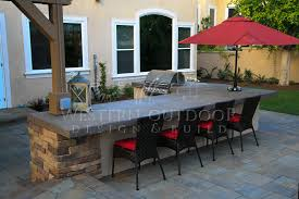 outdoor kitchen stucco finish bbq island