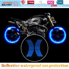 hot 16 strips motorcycle car sticker wheel tire stickers reflective rim tape exterior