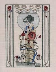Art Deco Cross Stitch Charts Sew Inspiring Art Deco Art Nouveau Cross Stitch Kits