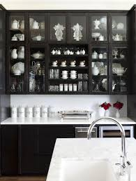 Black Kitchen Cabinets Kitchen Elegant Black Kitchen Cabinet Design With Fabulous