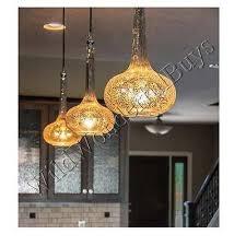 mercury glass fluted pendant light fluted mini hanging globe chandelier new