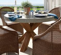 brown abbott round dining table brown