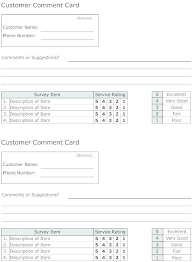57 Perfect Restaurant Comment Cards Templates Free On Simple Step
