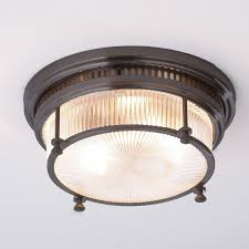 industrial flush mount. Beautiful Mount Fresnel Glass Industrial Flush Mount Ceiling Light Bronze With Shades Of