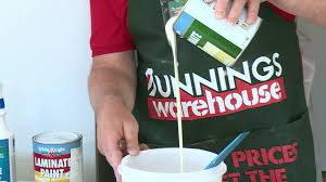 Bunnings Kitchen Cabinet Doors How To Paint Laminate Cabinets Diy At Bunnings Youtube