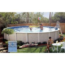 lomart whispering wind two round above ground swimming pool package