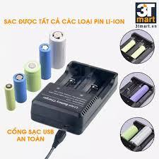 Bộ 1 đèn pin siêu sáng Cmon Power TACTICAL XML-T6 + 2 pin sạc + bộ sạc đôi  nhanh USB 1A