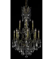 elegant lighting 9612d25ab ss rc monarch 12 light 25 inch antique bronze dining chandelier ceiling light