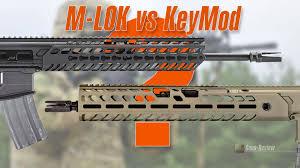 Сравнение систем <b>крепления</b> для AR-15 M-LOK и KeyMod