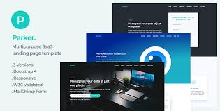 Parker Software And Startup Landing Page Template By Ydirectionthemes