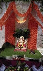 ganpati decoration ideas at home with theme 450 pooja room