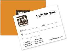 Gift Cards Nourish Your Soul