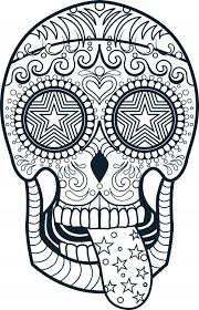 Small Picture Day Of The Dead Sugar New Sugar Skull Coloring Pages Free