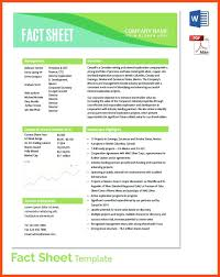 Fact Sheet Example Format Construction Project Template – Ukcheer ...