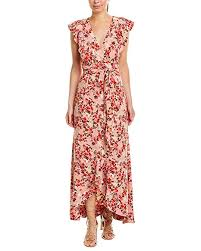 Wayf Womens Sara Ruffle Wrap Midi Dress At Amazon Womens