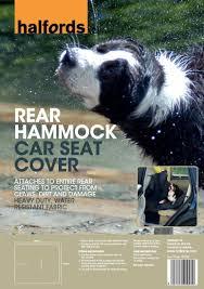 halfords rear hammock dog cat pet car seat cover protector boot mat liner