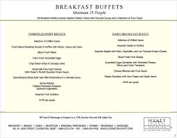 Breakfast Menu Template Interesting 48 Free Menu Templates PDF DOC Excel PSD Free Premium