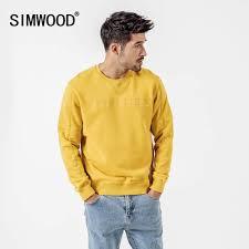 Online Shop SIMWOOD <b>2019 autumn</b> New Hoodies <b>Men</b> Fashion ...