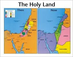 Image Holy Land Then And Now Bible Wall Map Bible