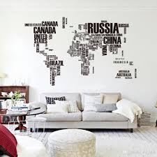 wall decor home design world map decorating ideas new pvc poster letter world map e removable vinyl art decals mural