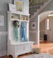 Coat Rack Cabinet Inspiration Beautiful Hallway Storage Bench With Coat Racks In White Color