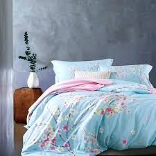 red cherry blossom duvet cover cotton bedding set blossoms luxury