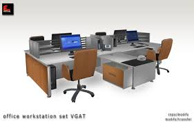 office desk workstation. Contemporary Workstation Modern Office Furniture WorkstationOffice Desk Set VGAT CopyModify U0026  ModifyTransfer Inside Workstation D