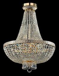 Diamant Crystal Kronleuchter Bella Weiß Gold Kronleuchter