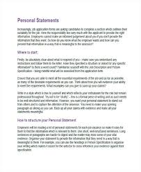 Personal Reference Example Personal Statement Job How To Write A Personal Statement