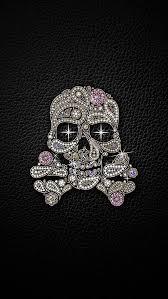 sparkle skull and crossbones wallpaper