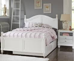 white full bed