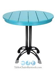 great lakes collection 30 round amish made poly lumber outdoor restaurant table top with milan bar height base