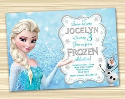 make your own frozen invitations frozen invitations etsy
