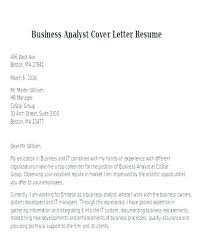 System Analyst Cover Letter Cover Letter For Business Analyst Dew Drops
