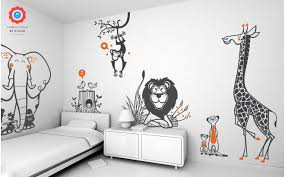 wall decals with lovely jungle animals