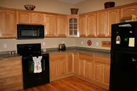 image of nice kitchen paint colors with light oak cabinets