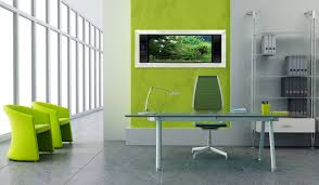 contemporary home office design. Green In Contemporary Office Design With File Shelf Home T