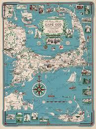 Cape Cod Chart Amazon Com Map Poster Picture Chart Of Cape Cod Marthas
