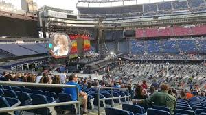 Gillette Stadium Section 111 Row 35 Seat 22 Coldplay