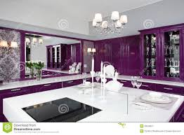 purple furniture. Modern Purple Kitchen With Stylish Furniture Stock Image - Of Empty, Floor: 35679627